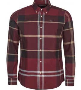 Barbour camicia iceloch winter red