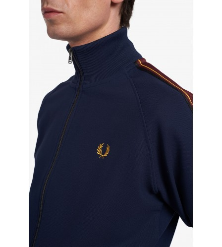 Fred Perry track jacket con fettuccia a righe