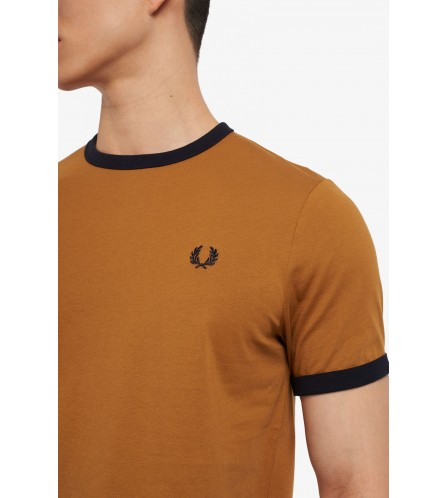 Fred Perry t shirt Ringer col. caramello