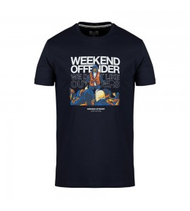 """Weekend Offender  t-shirt """" Bovver"""" col. navy"""