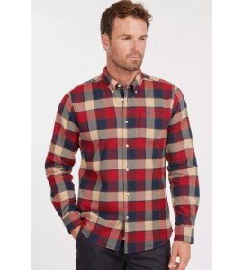 Barbour camicia Valley tailored  col. rich red