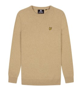 Lyle & Scott  Crew Neck Lambswool Sand