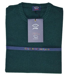 Paul & Shark Maglione Girocollo Colours of Shetland Green