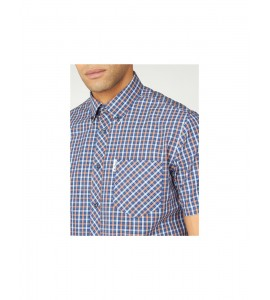 Ben Sherman  House Checked Short Sleeve Shirt -  col .Anise
